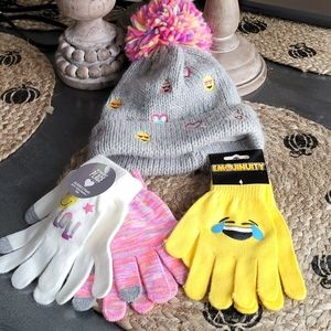 Brand new gloves and stocking hat
